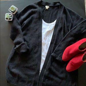 J.Crew black cardigan sweater